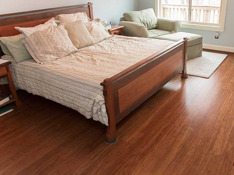 Hardwood flooring Warm sunset