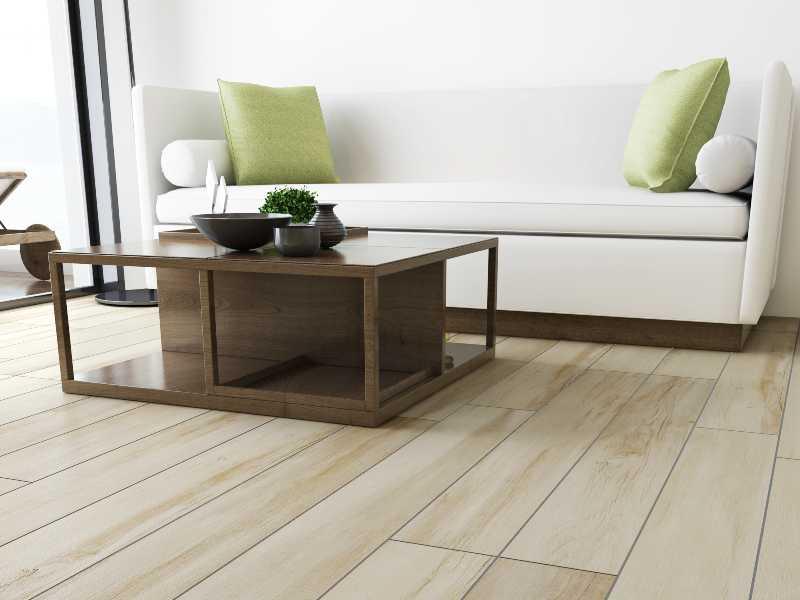 Ivory tile flooring