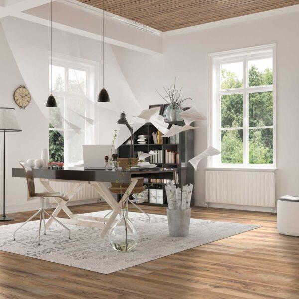 Laminate flooring Brown