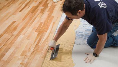 Glue down installation