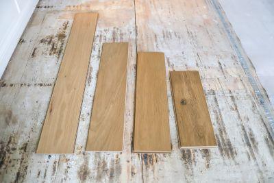 Hardwood flooring boards