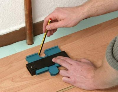 How to cut laminate flooring for uneven surfaces